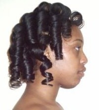 Admirable Short Relaxed Hair Roller Set Pictures To Pin On Pinterest Pinsdaddy Hairstyles For Women Draintrainus