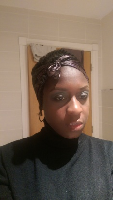 Black/purple Head Wrap
